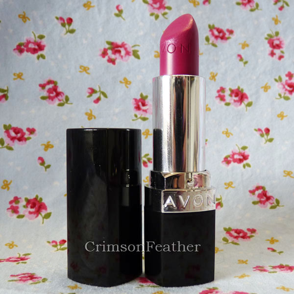 Hot Pink Avon Lipstick Review and Swatch