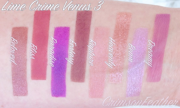 Lime-Crime-Venus-3-III-Swatches