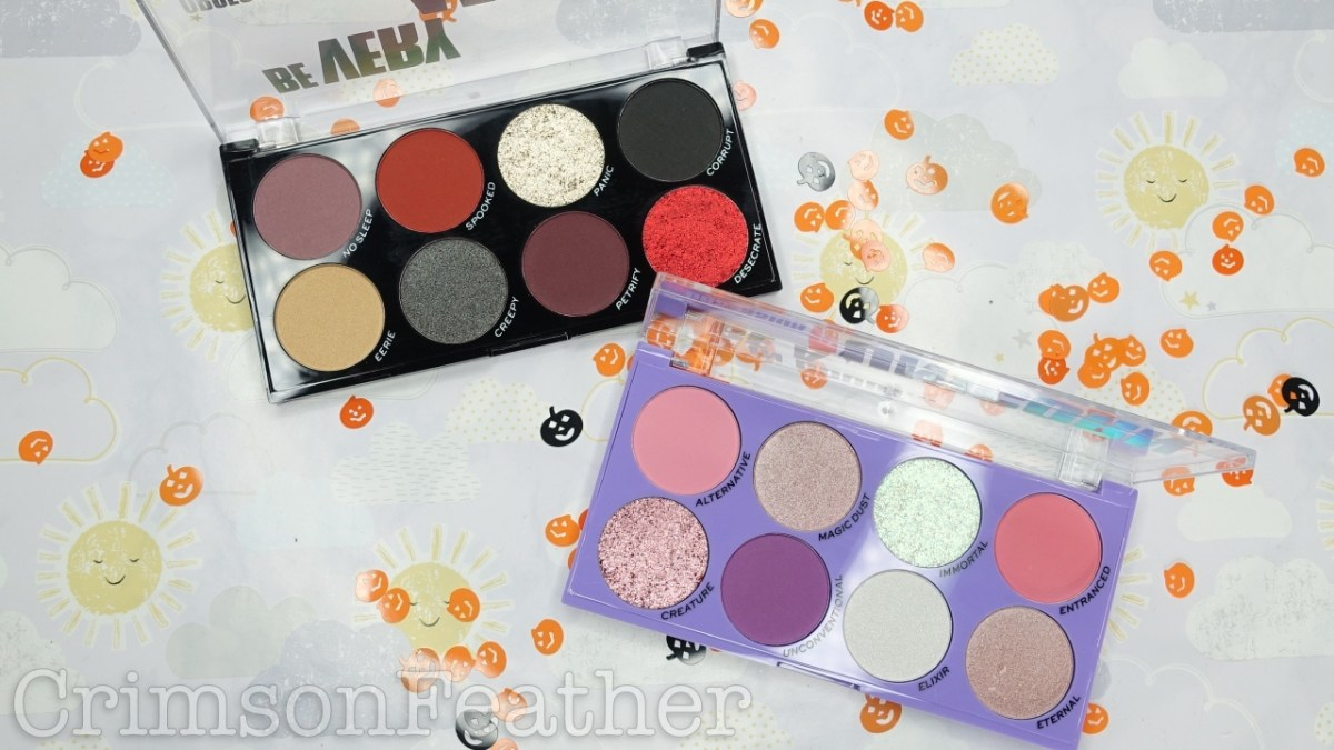 Obsession Halloween Palettes - If In Doubt Be A Unicorn & Be Very Afraid, Review & Swatches