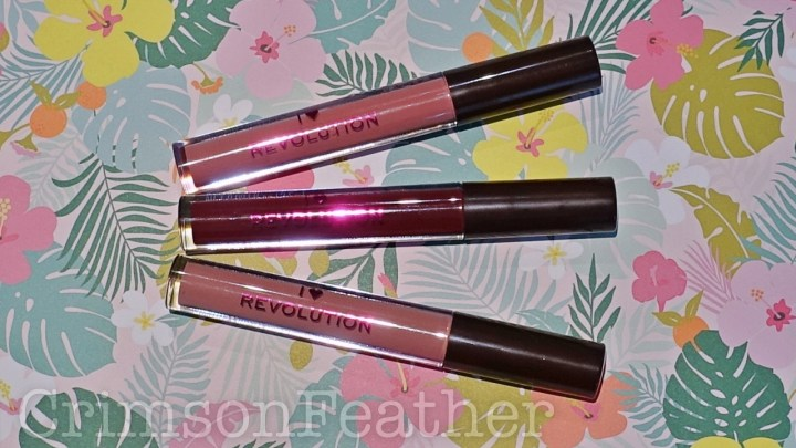 I Heart Revolution Chocolate Vault – Lipglosses Review & Swatches – Praline, Salted Caramel, Chocolate Cherry – Part 2
