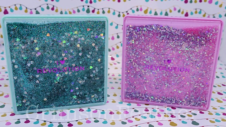 I Heart Revolution Glitter Palettes Review and Swatches – Starry Eyed and One True Love