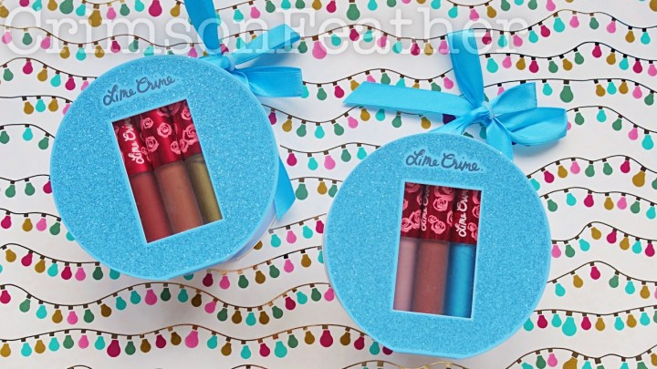 Lime Crime Mini Velvetines Holiday Sets – Frosted Daze and Holly Daze – Review and Swatches