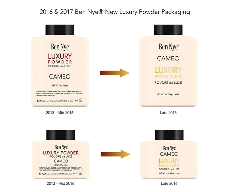 The recent spate of fake Ben Nye powders in the market has brought about concerns circulating around counterfeit products. To counter the counterfeit products, Ben Nye has changed the packaging of its powders.