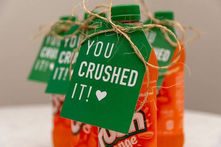 Crush Soda Bottles with You Crushed It Gift Tagss