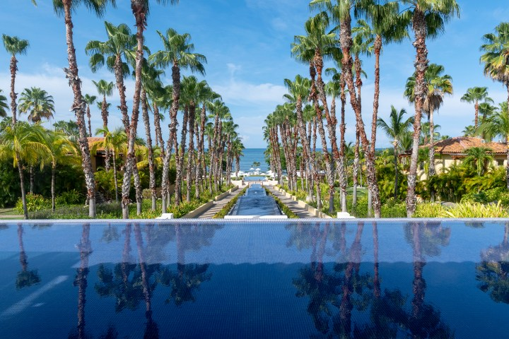 View of pools and the Pacifica and the St. Regis Punta Mita Mexico