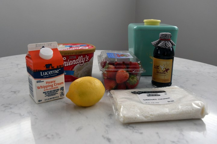 Ingredients for Spaghetti Eis