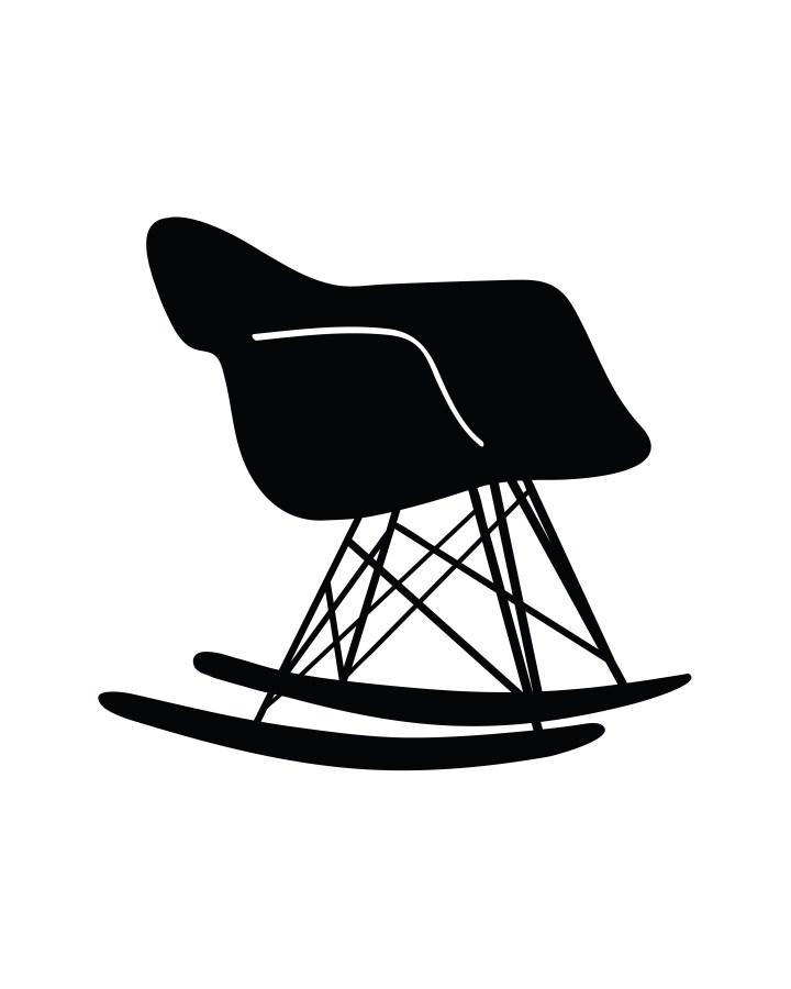 Eames Rocking Chair Silhouette