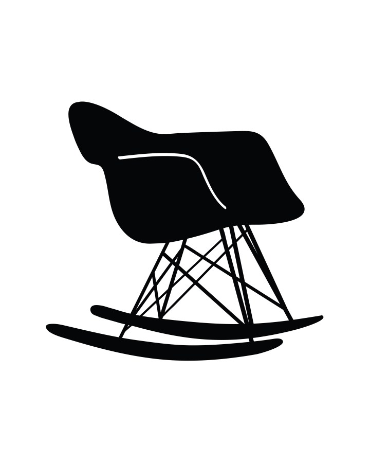 Eames Rocking Chair Silhouette