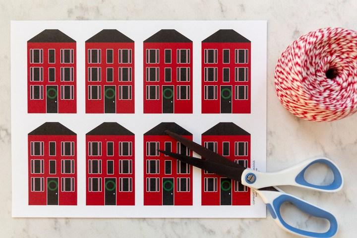 Printable House Tags for Christmas