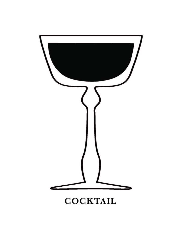 Cocktail Glass Art Printable