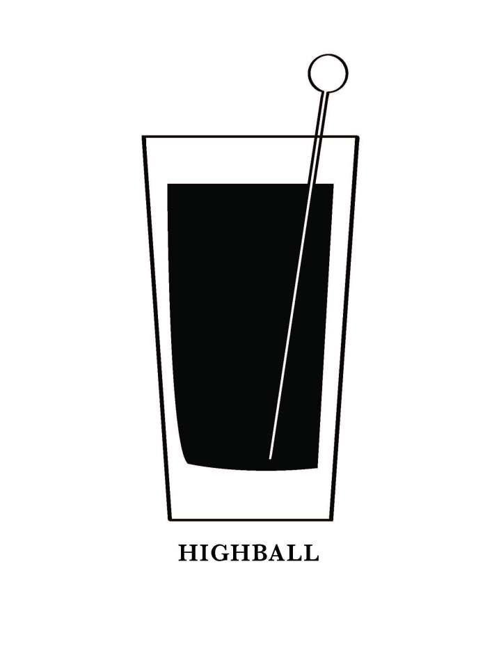 Highball Glass Art Printable