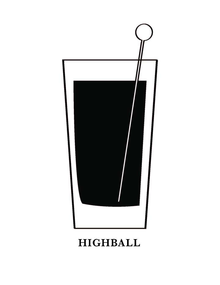 Highball Glass Art Printable