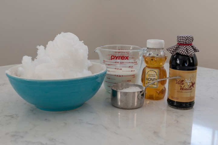 Ingredients for Snow Cream
