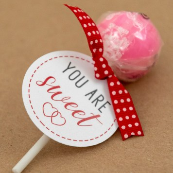 Printable You Are Sweet Gift Tags for Valentine's Day