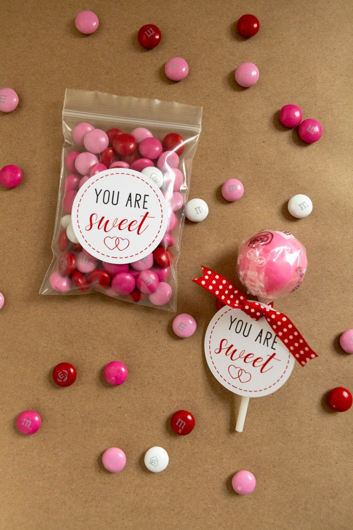 You Are Sweet Gift Tags for Valentine's Day