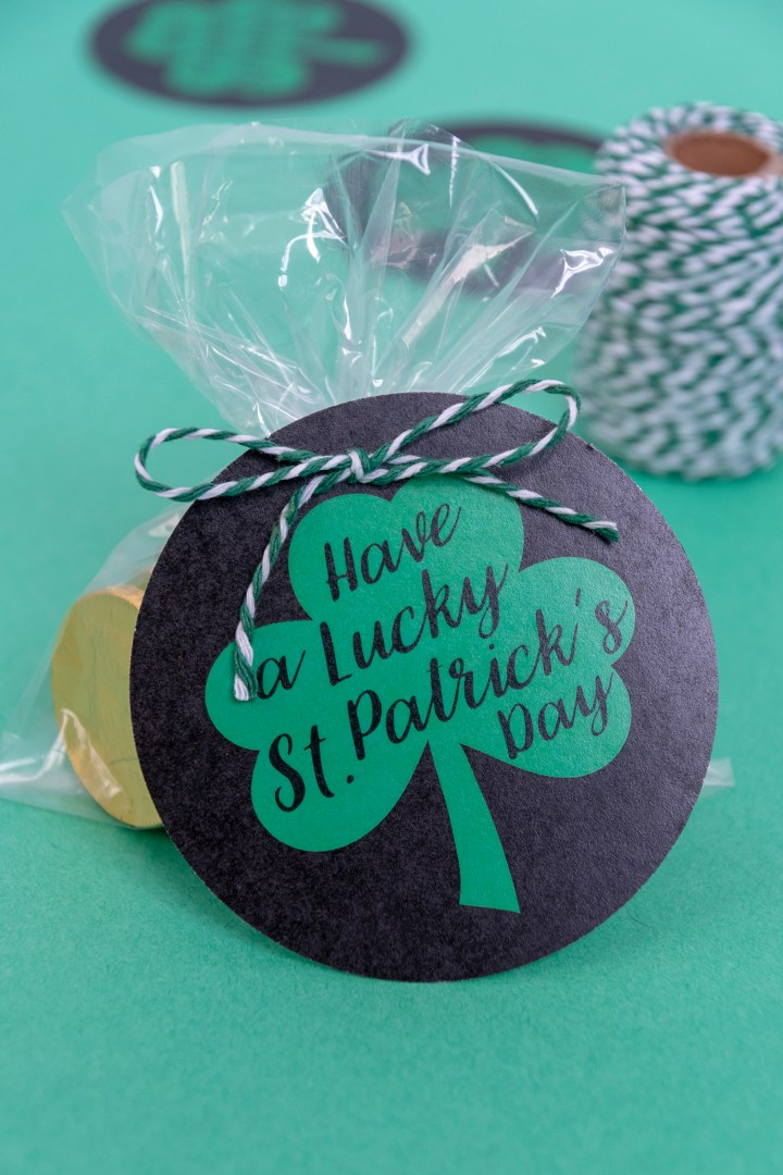 Free Printable Shamrock Lucky Gift Tags