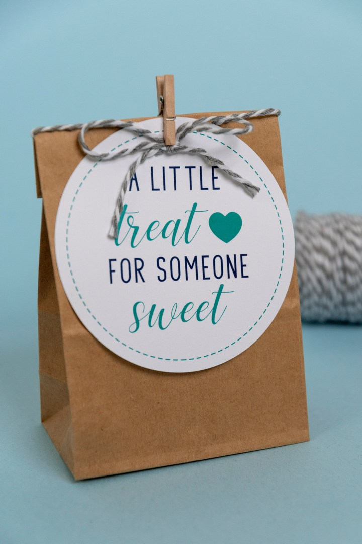 New, Blue, A Little Treat for Someone Sweet Free Printable Gift Tags