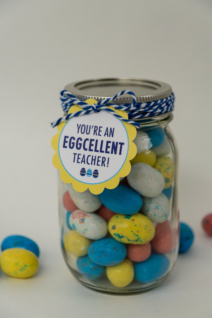 Free Printable Easter Teacher Gift Tags, You're an Eggcellent Teacher