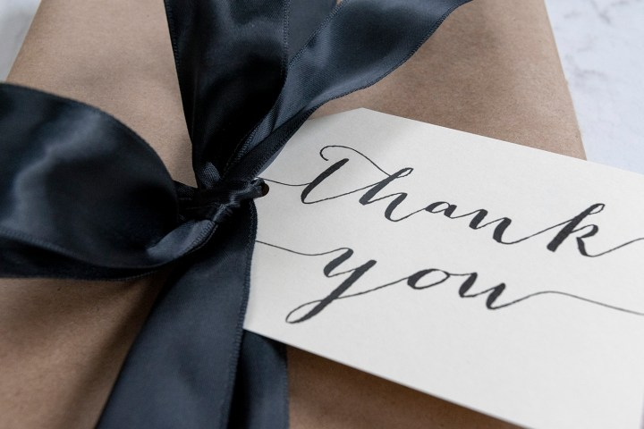 Calligraphy THANK YOU gift tags
