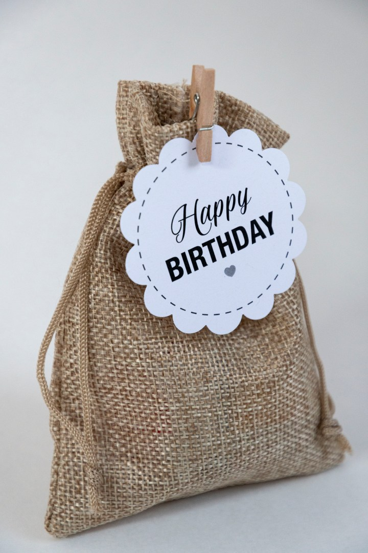 Happy Birthday party favor tags