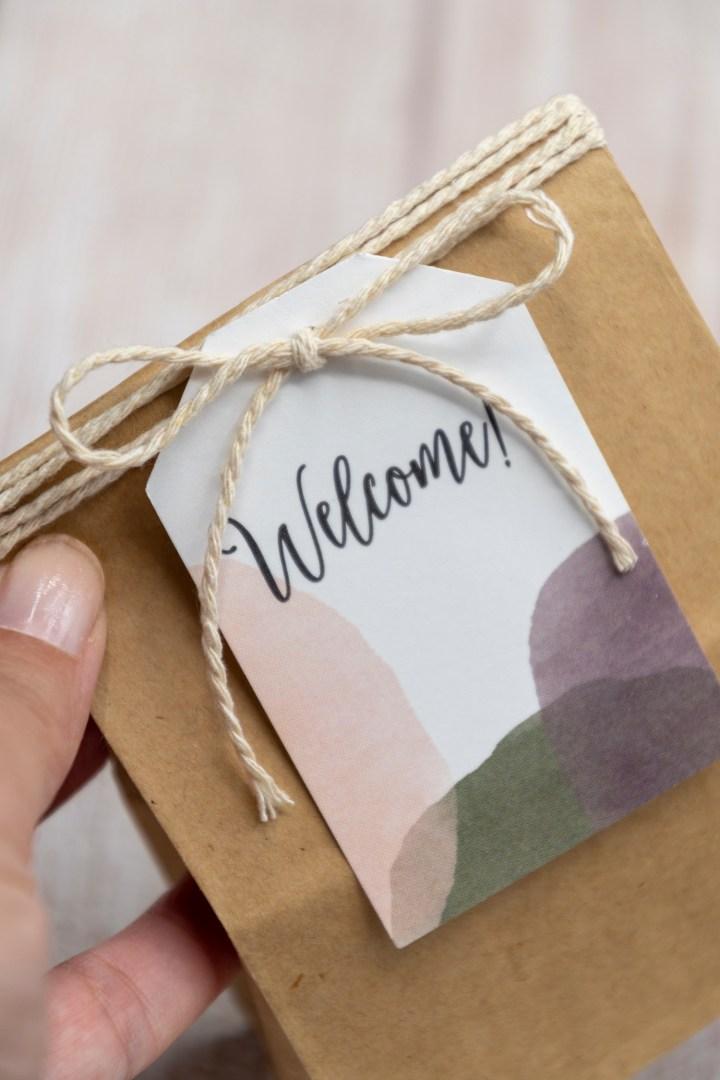 Modern wedding welcome tags free printable