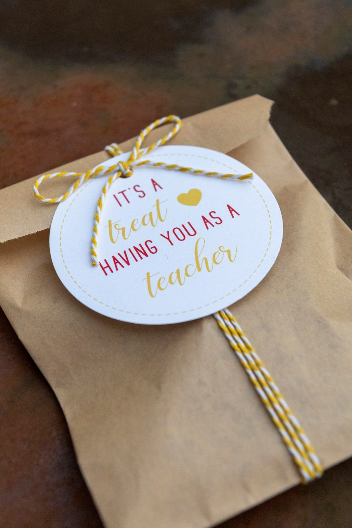 It's a Treat Having You as a Teacher Gift Tags