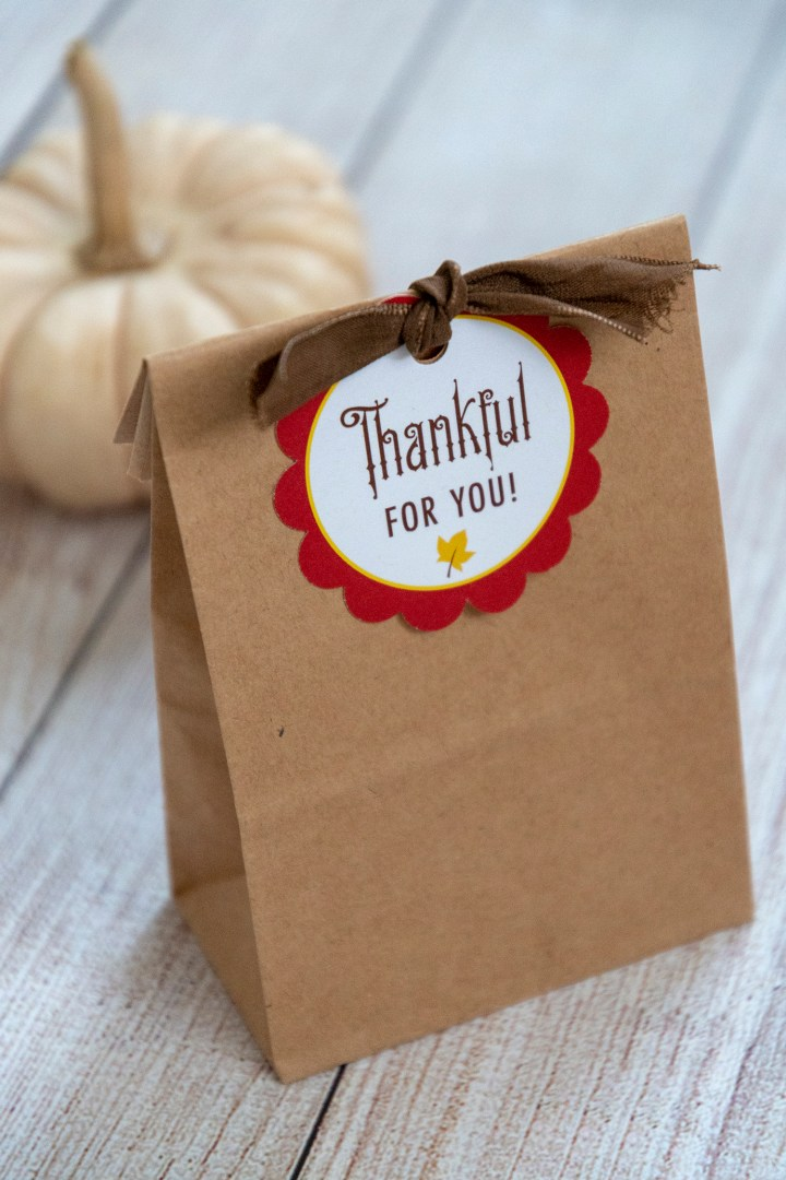 Thankful For You Free Printable Gift Tags