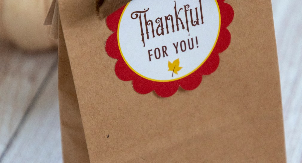 Thankful For You Free Printable Gift Tags
