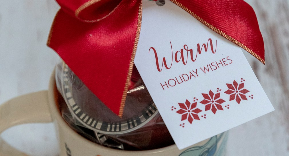 Free Printable Warm Holiday Wishes Gift Tags for Christmas