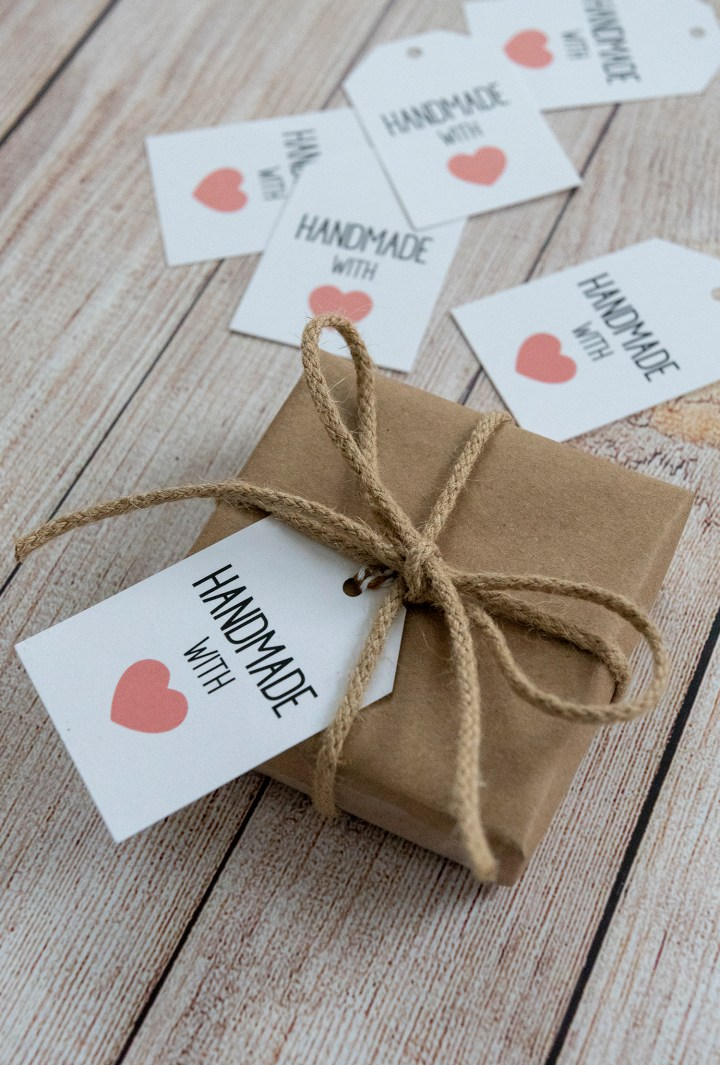 Handmade With Love Free Printable Gift Tags