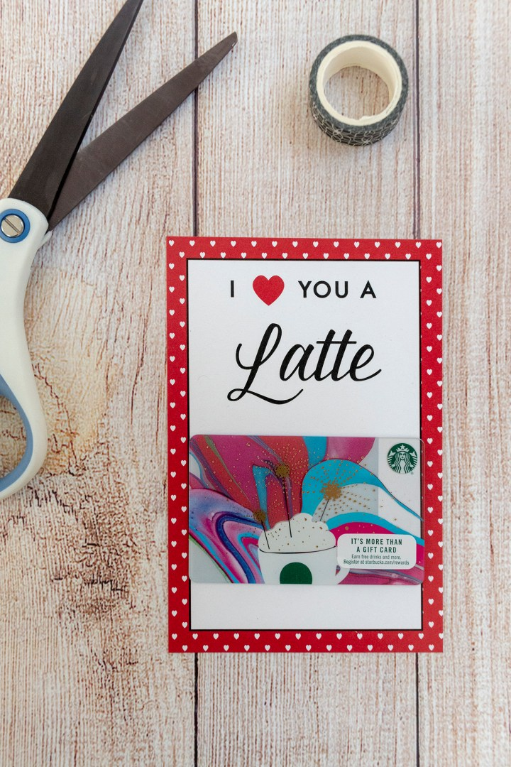 Free Printable I Love You a Latte Valentine Cards