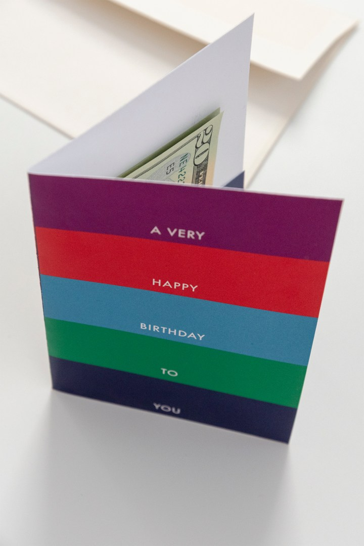 Birthday Card for Giving Cash Free Printable