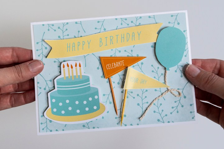Make a Birthday Card with Free Printable Ephemera Collage Sheet