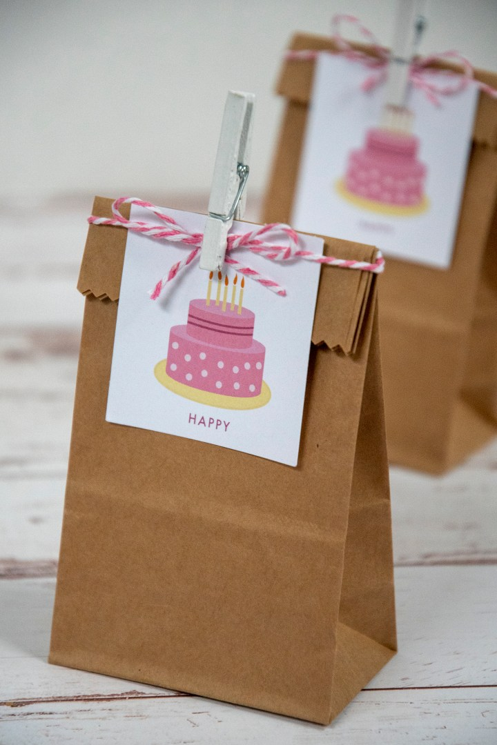 Free Printable Birthday Cake Gift Tags