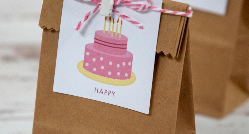 Free Printable Birthday Cake Gift Tags