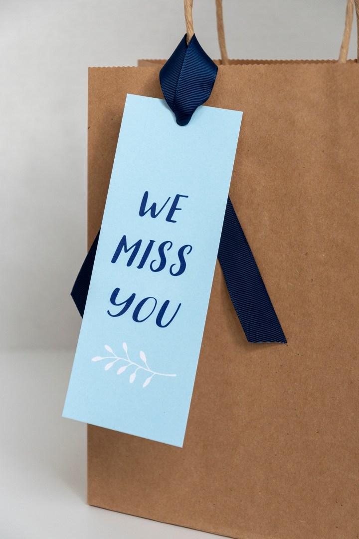 Free We Miss You Printable Gift Tags