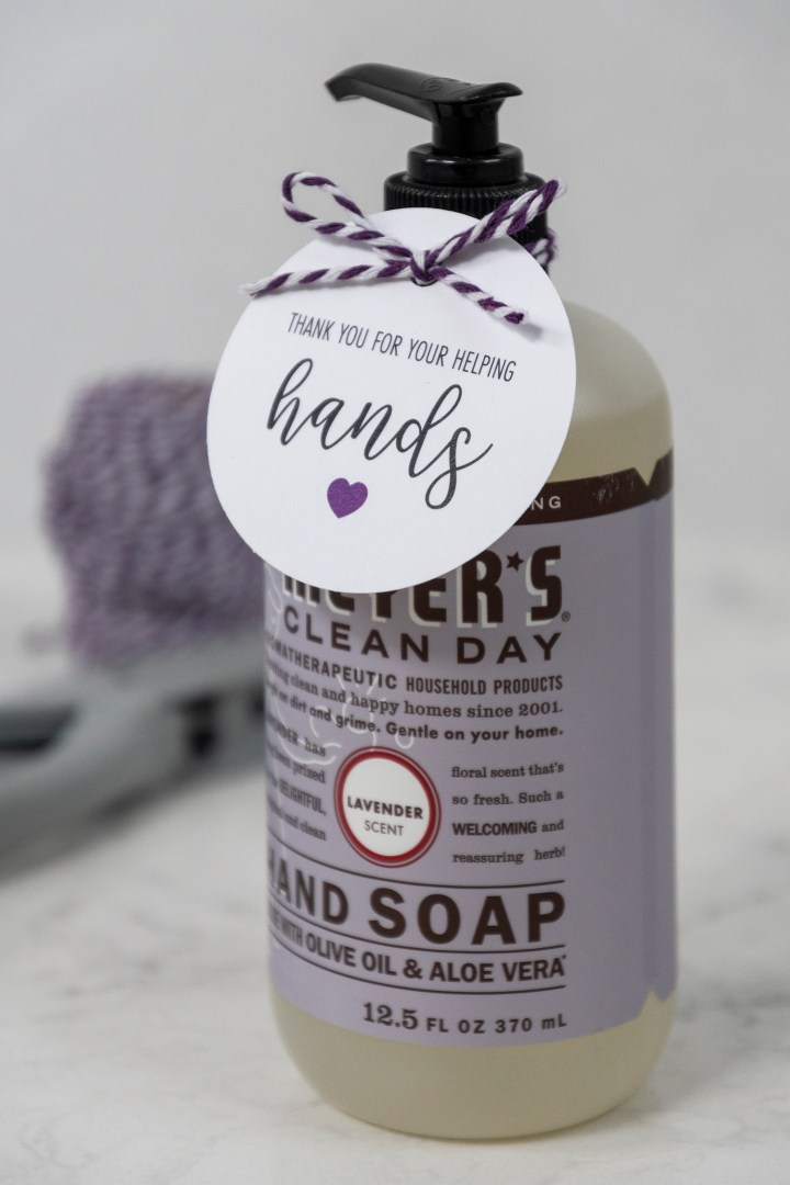 Free Printable Hand Soap Gift Tags