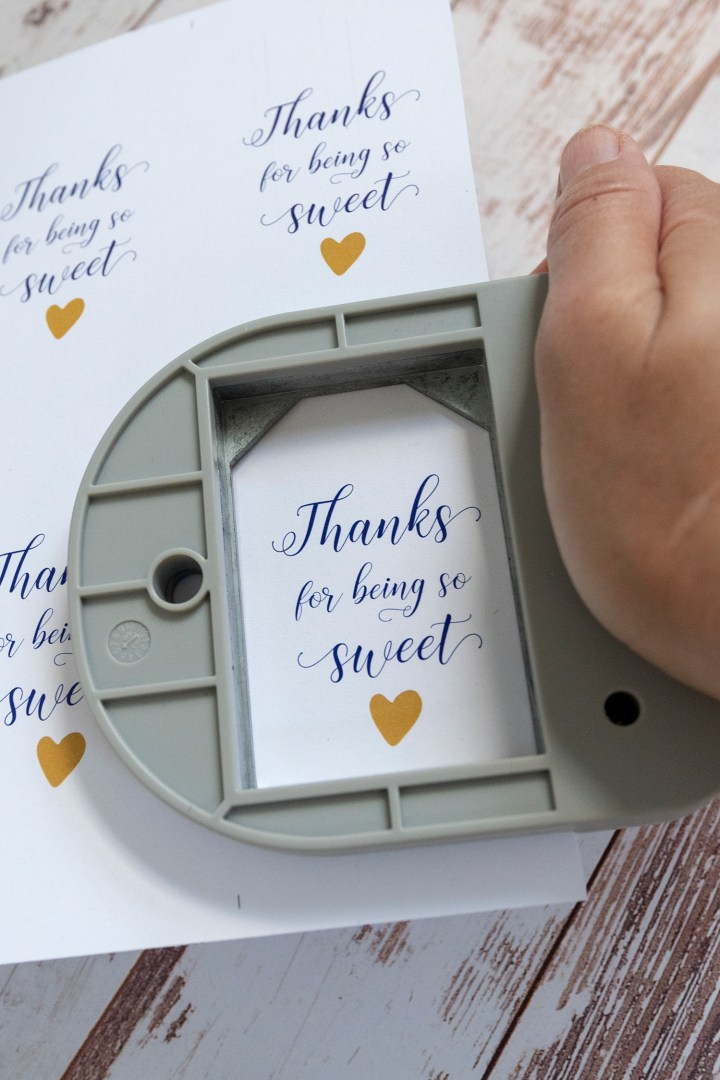 Thanks for Being So Sweet Gift Tags Printable