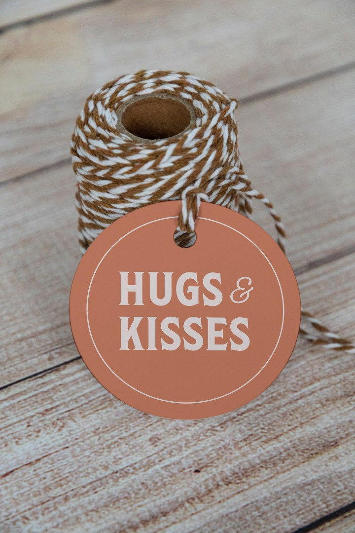 Hugs and Kisses Free Printable Gift Tags