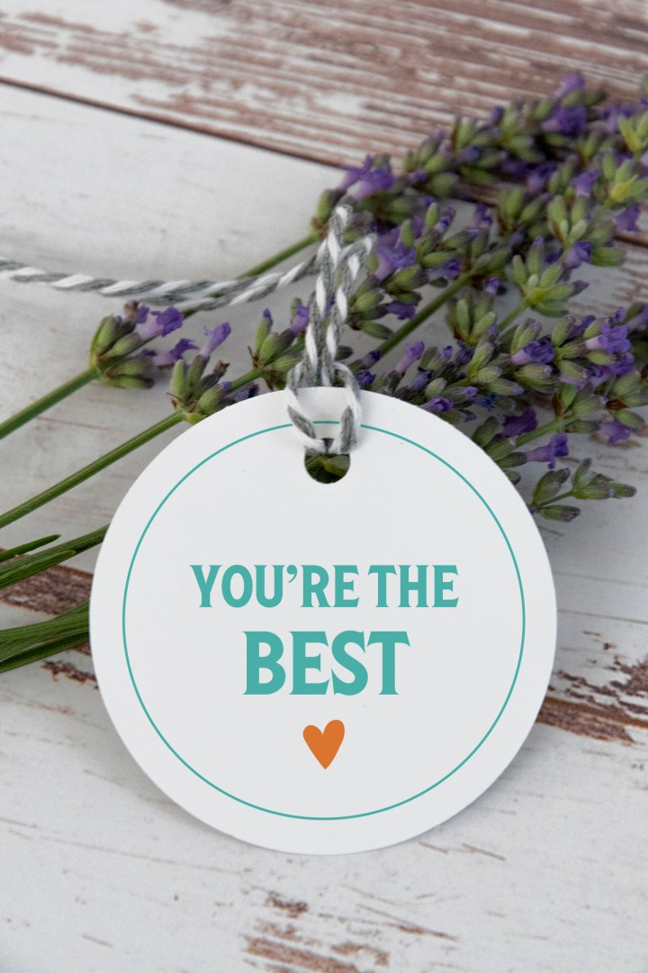You're the Best Free Printable Gift Tags