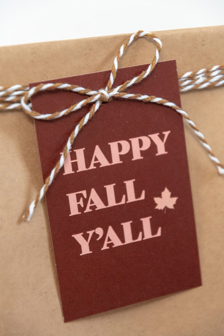 Happy Fall Y'all Printable Gift Tags