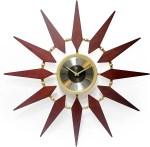 Mid Century Modern Sunburst Clock