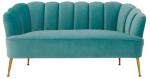 Turquoise Art Deco Sofa