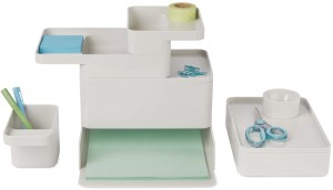 Modern desk organization trays