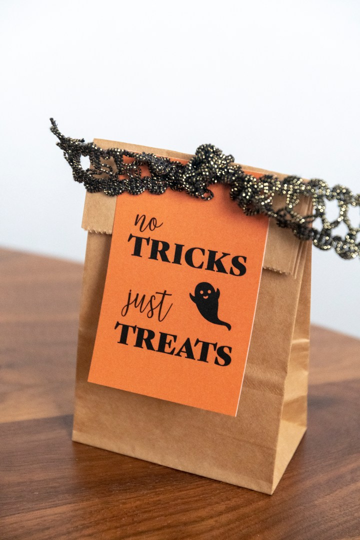 No Tricks Just Treats Gift Tags