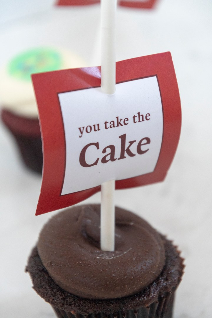 Free Printable You Take the Cake Tags