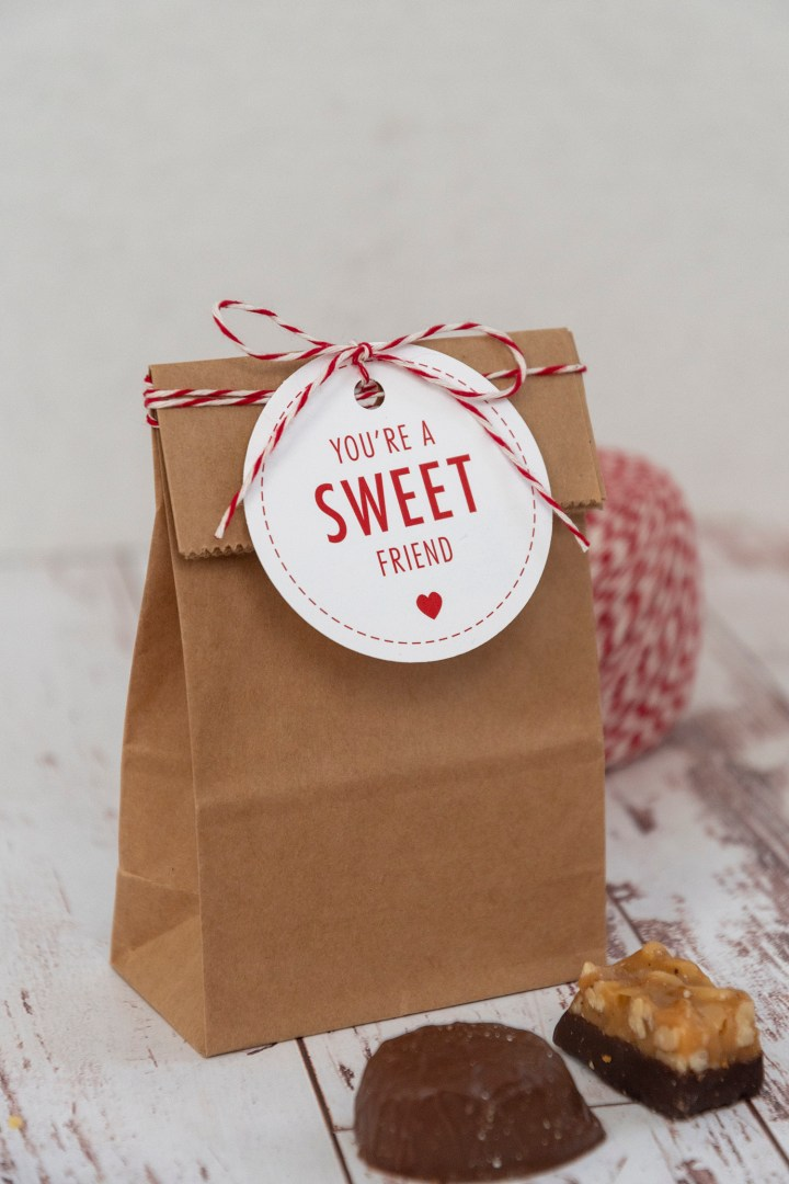You're a Sweet Friend Free Printable Gift Tags