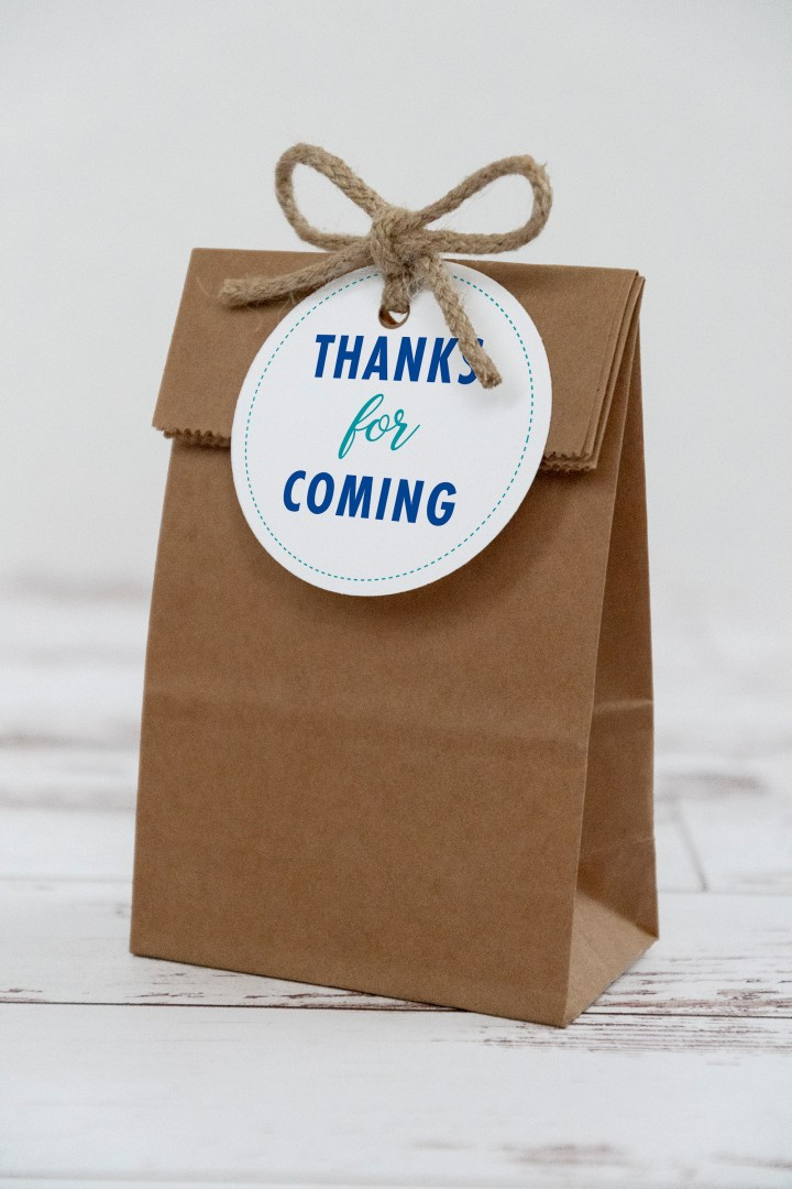 thanks for coming free printable gift tags