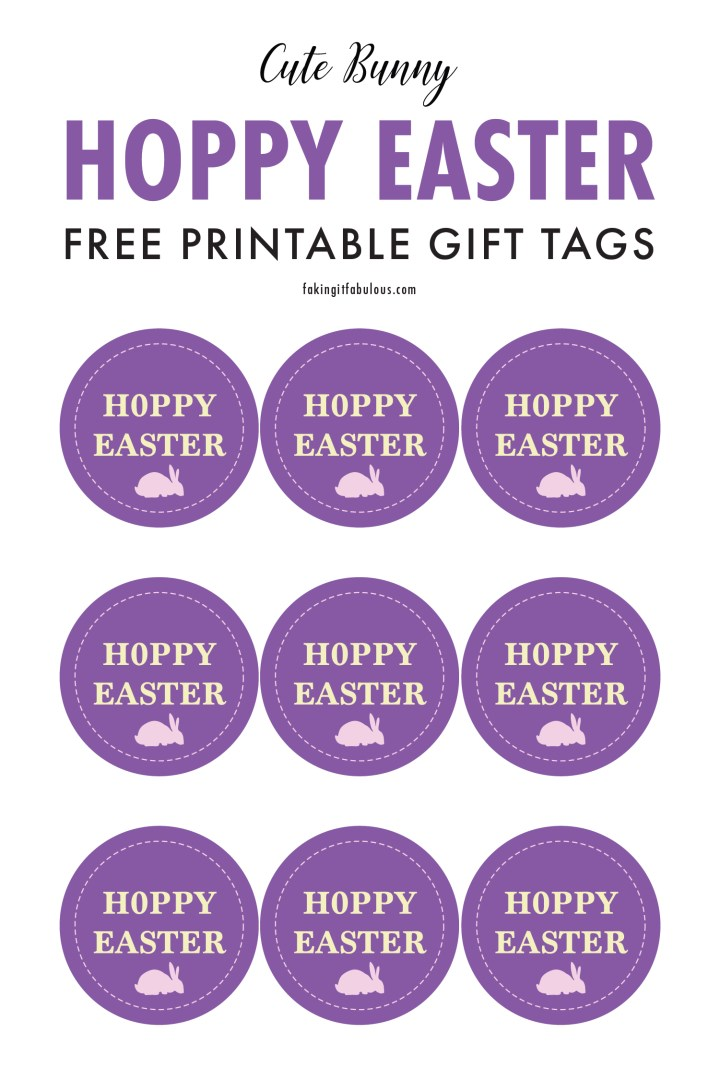 Hoppy Easter Free Printable Gift Tags