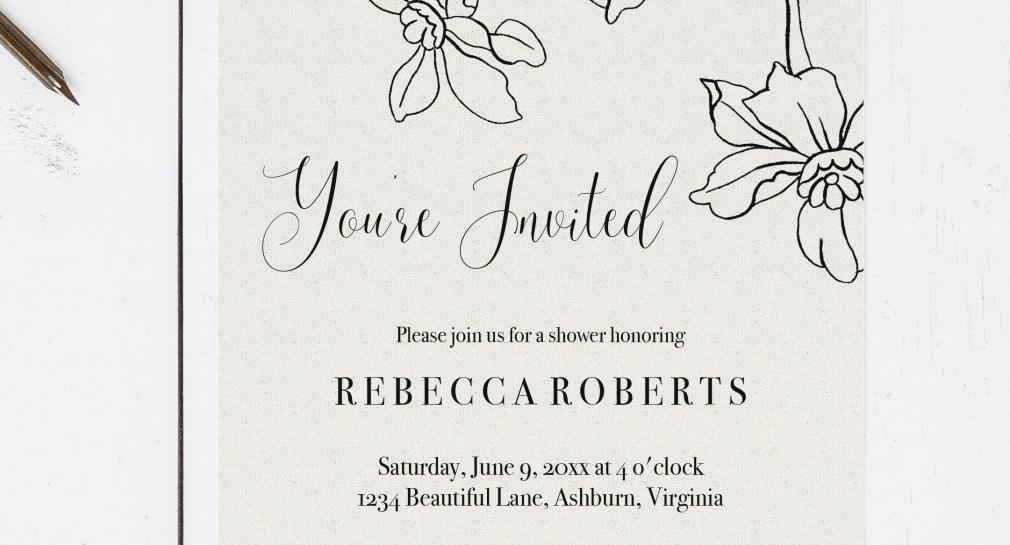 Free Printable Bridal Shower Invitation Template